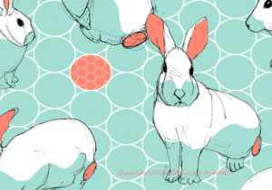 Easter bunny fabric design