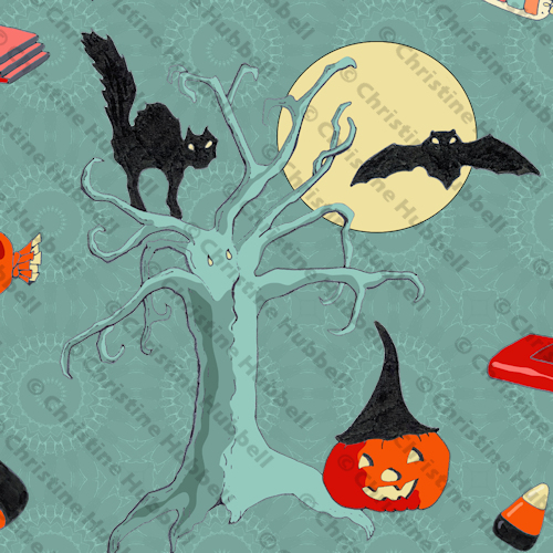 Spooky Trick or Treat Fabric