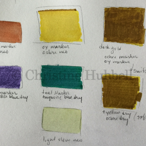 a sample of color swatches