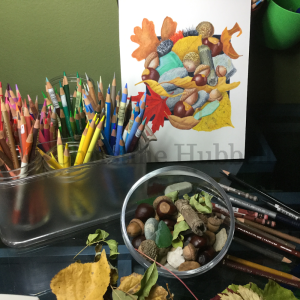 fall medley illustration at the drawing board